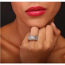 18KT White Gold 3.94ctw Diamond Ring