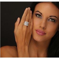 18KT White Gold 5.27ctw Diamond Ring