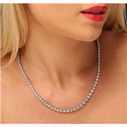 14KT White Gold 10.63ctw Diamond Necklace
