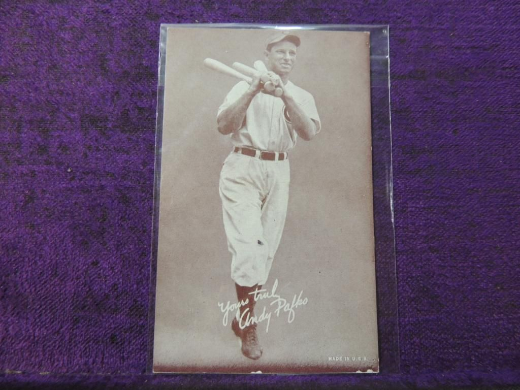 1947 1966 Exhibit Andy Pafko Baseball Card