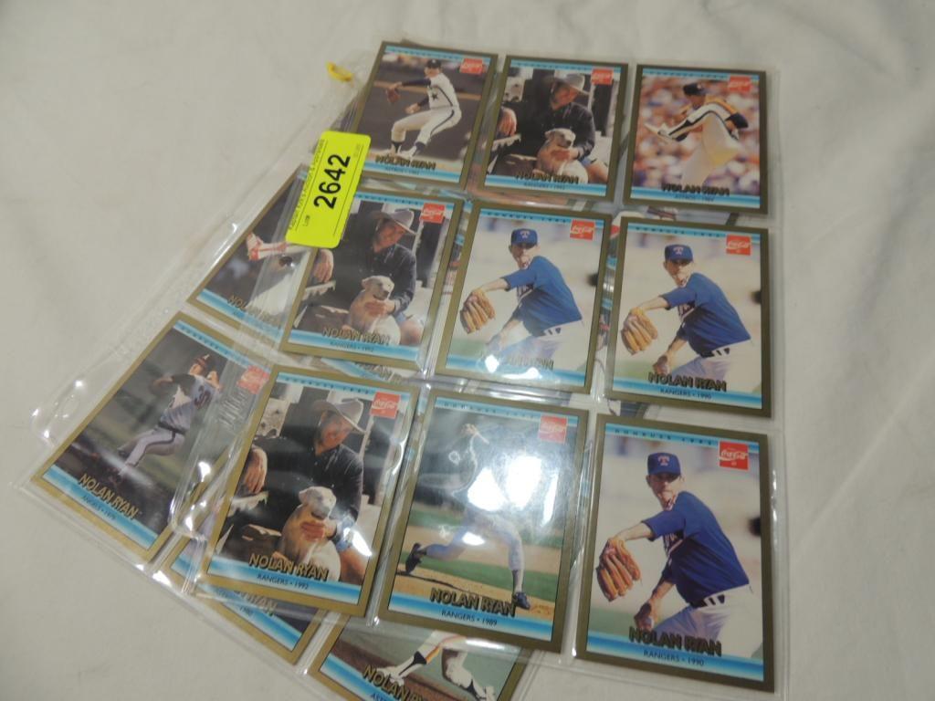 Lot 18 Nolan Ryan Coca Cola Baseball Cards