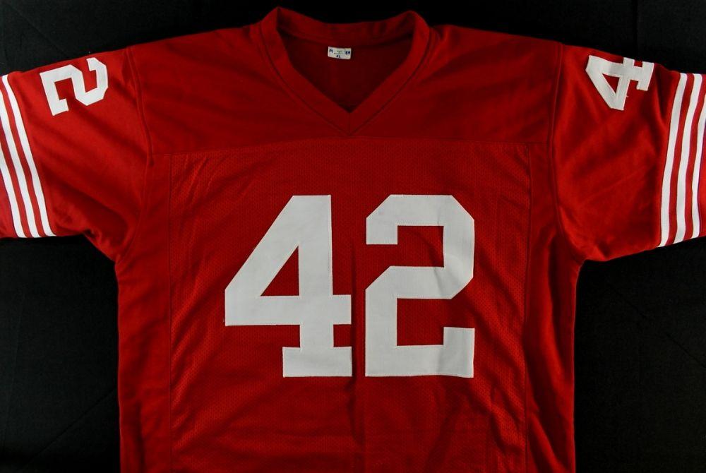 75b586fb0c9 ... Image 3   Ronnie Lott Signed 49ers Stat Jersey (JSA COA   GTSM) ...