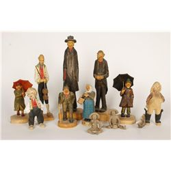 Lot of Whimsical Figurines & Carvings
