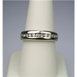 Men's Diamond Band with 10 Channel Set Round Cut