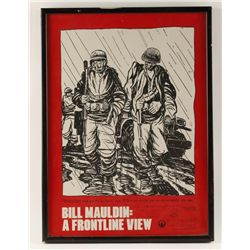 """""""Frontline View"""" Bill Mauldin Autographed Poster."""