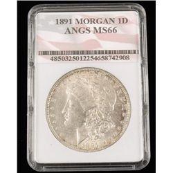 1891 Morgan 1d Angs Ms66