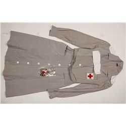Lot of 3 WWII Red Cross Nurses Uniforms.