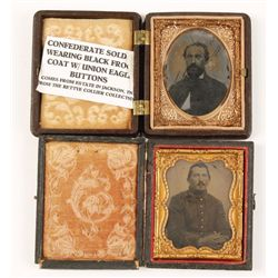 Collection of 2 tin types