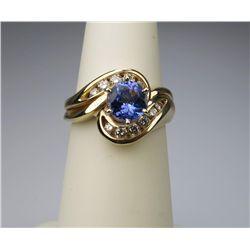 Splendid Tanzanite & Diamond Ring