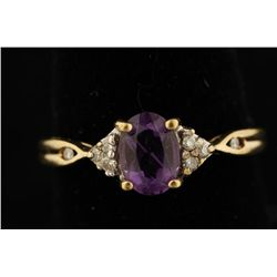 Amethyst & Diamond Ring.