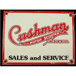 Cushman Motor Scooters Sales & Service Porcelain