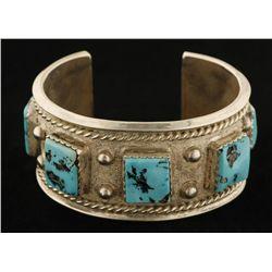 Turquoise & Sterling Silver Bracelet.