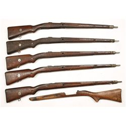 Lot of Six Rifle Stocks.
