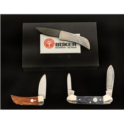 Lot of Three Boker Folding Blade Pocket Knives