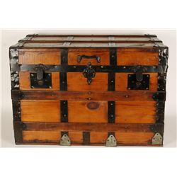 Antique Wooden Flat-top Trunk