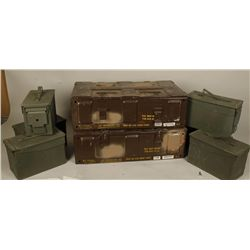 Collection of Six Ammo Boxes & Two Fuse Boxes