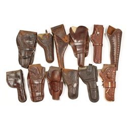 Box Lot of Leather Holsters