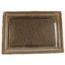 Unique Framed Gettysburg Address by Abraham
