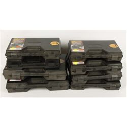 Lot of 8 Case Gard Handgun Cases