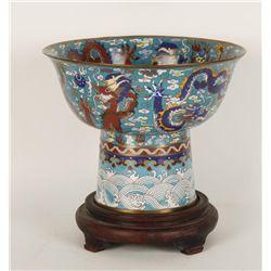 Chinese Cloisonne Pedestal Bowl
