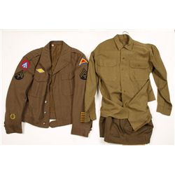 WWII US Army Wool Jacket,Shirt and Pants