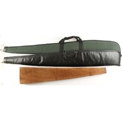 Lot of Two Soft Rifle Cases and a Stock Blank