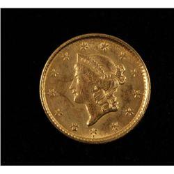 1853 Gold One Dollar Coin