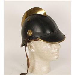 German Leather & Brass Decoration Fireman's Helmet