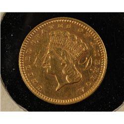 1871 Gold One Dollar Coin Love Token