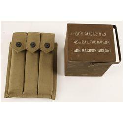 Original Thompson Submachine Gun Magazine Box