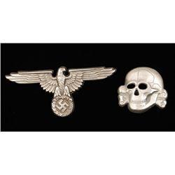 German WW2 Combat Badge& Officers Visor Cap Eagle