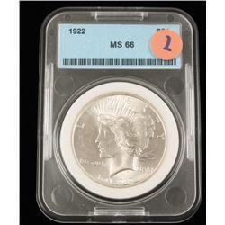 1922 Ms66 S$1