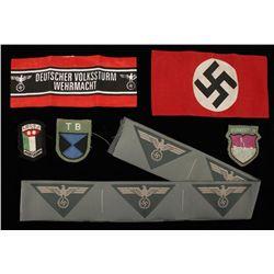 German WWII Political Arm Band & 10 M-1944 Army