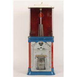 Five Cent Bubble Gum Ball Machine.