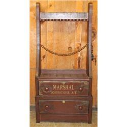 Arizona Territory U.S. Marshall's Gun Rack