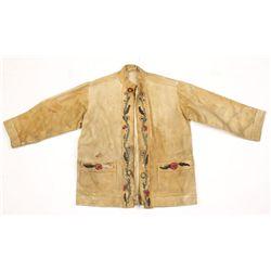 Buckskin Jacket with Beadwork.