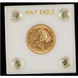 1880 Liberty Half Eagle Gold Coin