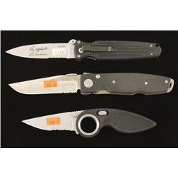 Lot of Three Folding Knives