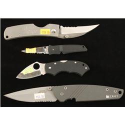 Lot of Four Folding Knives