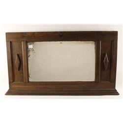 Oak framed Mirror and Oak Mantle Mirror