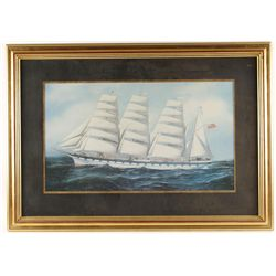 Two Framed and Matted Print of Sailing Vessels