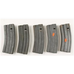 Lot of Five 30-round AR15 Magazines.