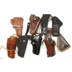 Lot of Holsters and a Gun Rug