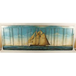 Painted Wood Wainscoting Seascape
