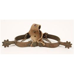Arizona Copper Spurs with Studded Leather
