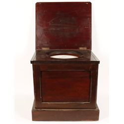 Mahogany English Commode Chamber Pot Cabinet