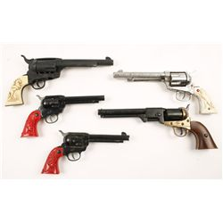 "Lot of 4 Early ""Buckaroo"" Toy Cowboy Guns"