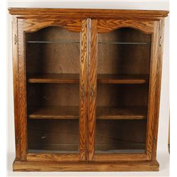 Nice Oak Display Cabinet
