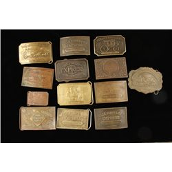 Bag of Brass Belt Buckles