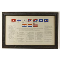 Print of Shipping Line Flags and Histories